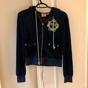 Juicy Couture Women's Navy Blue Velvet Track Suit